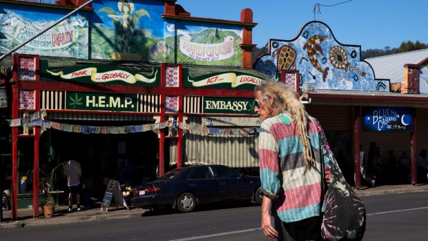 The main street in Nimbin.