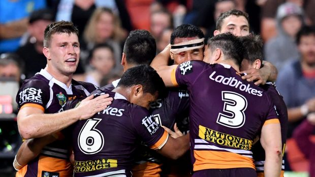 No bite: Brisbane completely outplayed the Cronulla Sharks, which - prior to Friday's match - sat even with them on ...