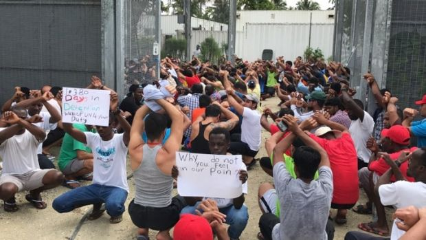Manus Island asylum seekers have protested their detention but also fear leaving the facility.