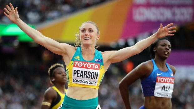 Australia's Sally Pearson produced a storming semi-final run.