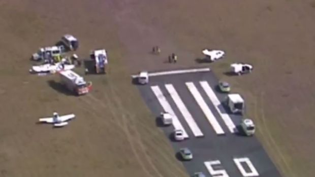 It was understood the plane stalled, flipped and overshot the runway before crashing.