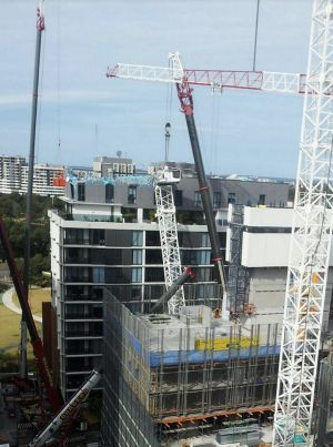 Four cranes that were brought in for the recovery operation started dismantling the crane on Saturday.