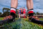 Caitlin Lewis (St Paul's Football Netball Club player), Malcolm Neiwand (St Kilda City Football Netball Club player) and ...