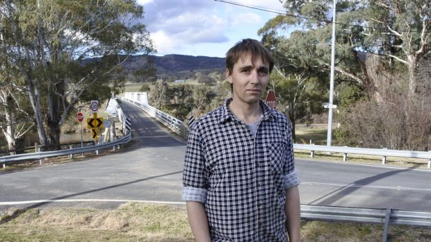 Shane Trevor has lived near the historic bridge in Tharwa for about three years.