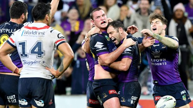 Melbourne Storm edge past Sydney Roosters in tight contest