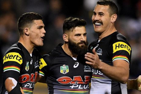 Top eight: Penrith, led by Nathan Cleary, stormed home to beat the Cowboys.