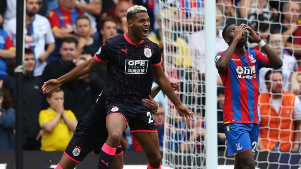 Fairytale stuff: Huddersfield Town convincingly beat Crystal Palace 3-0 in their first ever Premier League appearance.