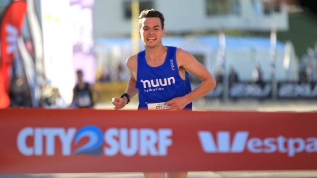 Winner of The Sun-Herald  City2Surf fun run Harry Summers.