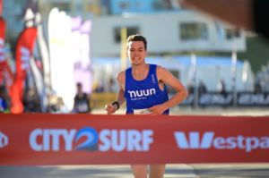 Winner of the Sun Herald  City2Surf fun run Harry Summers.