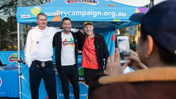 Ian Thorpe appeared at the City2Surf run in Sydney on Sunday.
