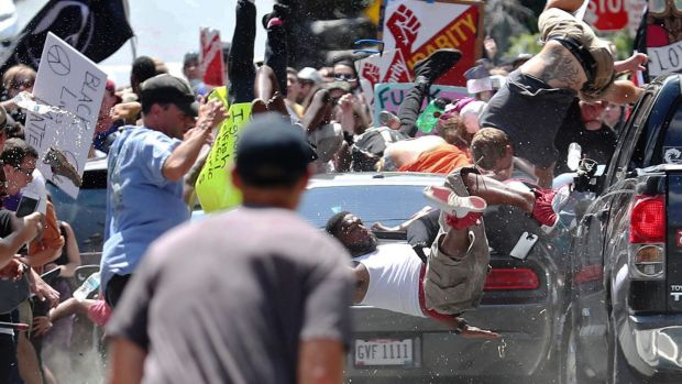 One person was killed after a 20-year-old drove his car into people protesting a white nationalist rally in ...