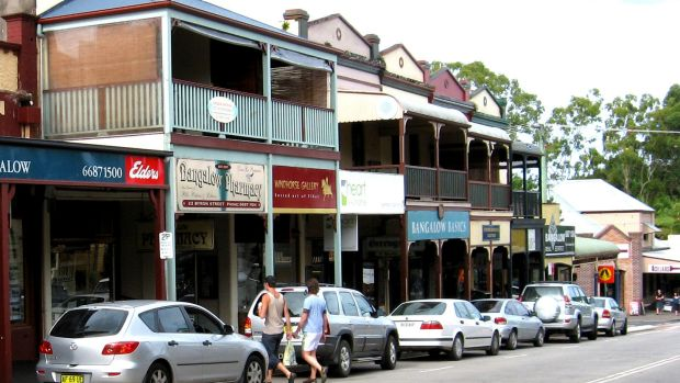 The picturesque main street of Bangalow.