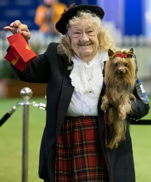 Phyllis Mary Taylor has been an entrant in the Ekka dog competition for 65 consecutive years and this year entered two ...