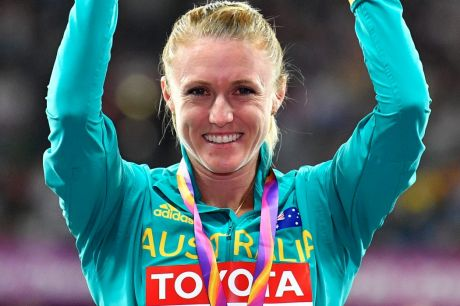 Golden girl: Australia's Sally Pearson with her gold medal for the 100m hurdles.