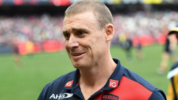 Keep it simple: Melbourne coach Simon Goodwin is sticking to basics after an unpredictable season 2017.