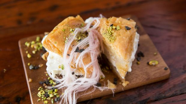 Try Cuppa Turca's ice-cream sandwiched between baklava.
