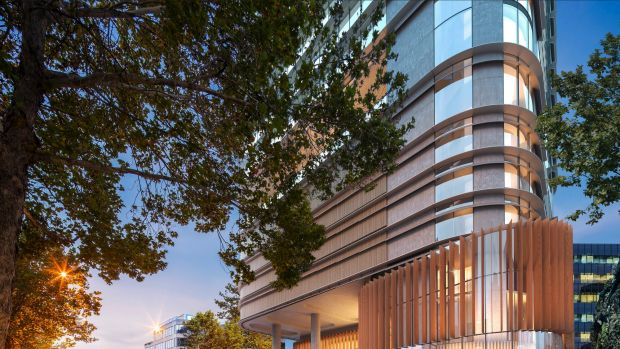 A Parramatta City Council Design Competition jury has chosen the design by Fender Katsalidis for GPT's new office tower.
