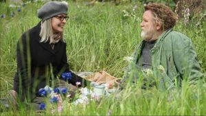 Emily Walters (Diane Keaton) and Donald Horner (Brendan Gleeson) get to know each other in a scene from Hampstead. Both ...