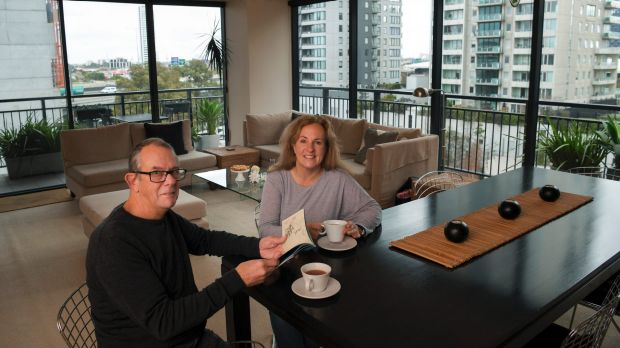 When they're not working at the lighthouse, Colin and Renata Musson enjoy city life at their Southbank apartment.