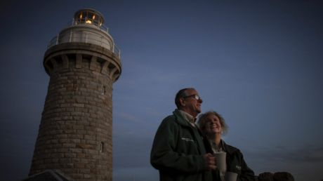 Let's have a cuppa: Colin and Renata Musson love being caretakers for 140 days a year at Wilsons Promontory lighthouse.