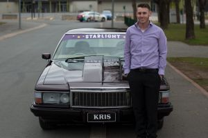 Kris Davis with his newly restored 1982 Holden WD ute.