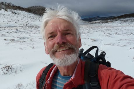 Canberra historian and writer Matthew Higgins is never far from the snow in winter. Photo: Matthew Higgins