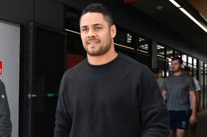 Number crunching: Titans officials and the NRL reportedly discussed the cost implication of Jarryd Hayne leaving the ...