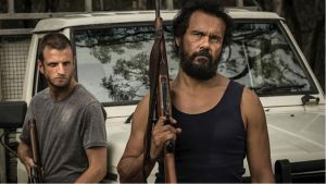 In Damien Power's <i>Killing Ground</I>, Chook (left, Aaron Glenane) and German (Aaron Pedersen) are the visitors of ...