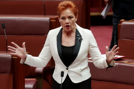 "One Nation leader Pauline Hanson wants the ABC to disclose presenter salaries and insert the words ""fair and balanced"" ..."