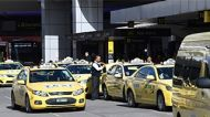 Taxi protest at Melbourne Airport.
