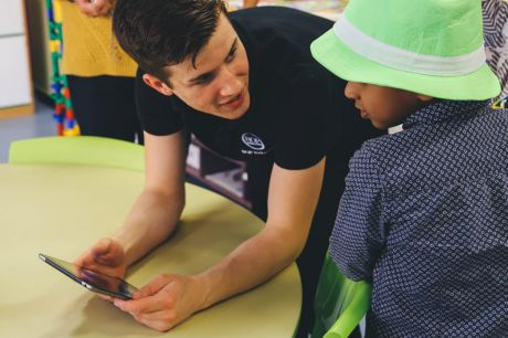 Mr Millar regularly hosts workshops to help children develop skills in coding, learn about holograms.