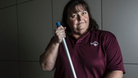 Cleaner Judith Barber is among 7000 NSW school cleaners worried they will be short-changed for the number hours they ...