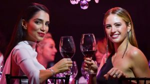 Jessica Kahawaty (left) and Jesinta Franklin (nee Campbell) added to the glamour of the Prix de Marie Claire Awards.