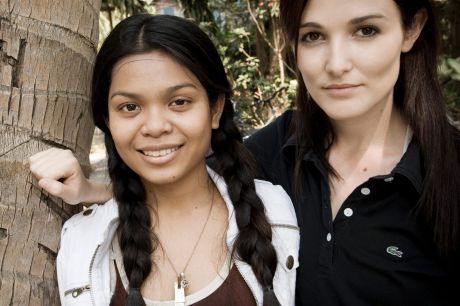 Sinet Chan, left, was rescued from a Cambodian orphanage by Australian Tara Winkler, right. Sinet Chan has given ...