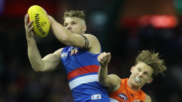 Time to change: Western Bulldog Jake Stringer needs to work harder for his midfielders, according to Wayne Carey.