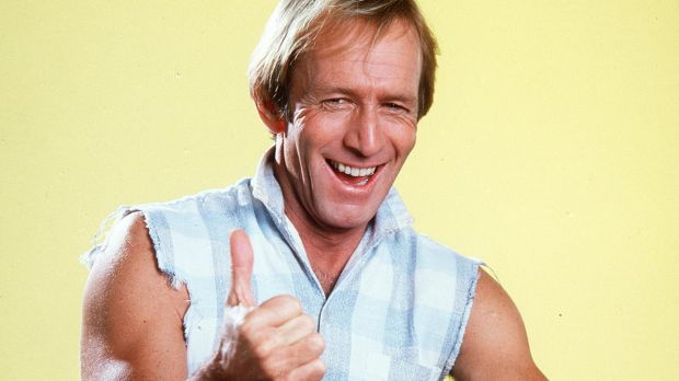 """Paul Hogan became famous for the successful tourism ad """"throw another prawn on the barbie""""."""