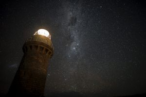 Stars above the Wilsons Promontory lighthouse.