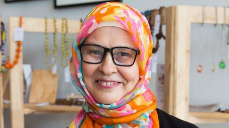 Alia Sultana is a refugee who runs a catering company and helped set up SisterWorks, which provides advice and ...