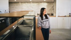 Klarisa Cengic, owner of new salad bar, The Goods Wholefoods, in No Name Lane in Civic.