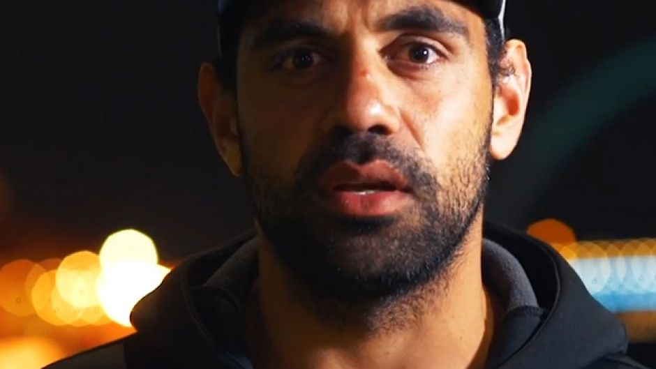 Former AFL star Chris Yarran in a still from a video where he opens up about his ice addiction.