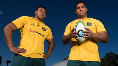 Bledisloe brothers: Allan Alaalatoa (left) and Scott Sio will unite as Wallabies front rowers for the first time on ...
