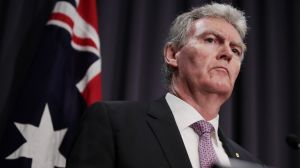 ASIO director general Duncan Lewis at Parliament House on Friday.