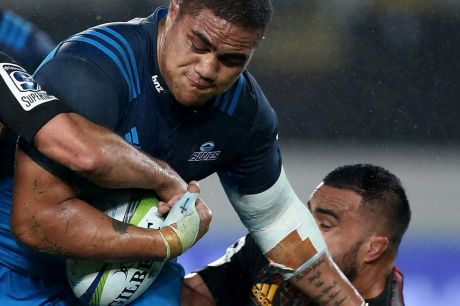 Weak link: Ofa Tu'ungafasi has already suffered at the hands of the Wallabies.