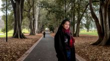 MELBOURNE,AUSTRALIA 2 AUGUST 2017. Cambodian citizen Sophea Touch poses for a photo in melbourne's Treasury gardens on ...