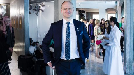 Myer boss Richard Umbers at the Myer spring 2017 fashion launch held in Coogee this week.