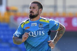 Humour intact: Nathan Peats, who has been poking fun at Konrad Hurrell on Twitter, is on track to play in round one.