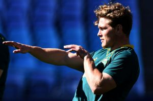 Michael Hooper at Wallabies captain's run on Friday.