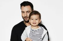 Jimmy Bartel with son Aston.