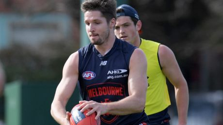 Surprise comeback: Jesse Hogan will return from a broken collarbone for Melbourne this weekend.