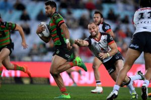 Starring role: Alex Johnston continues to dominate at ANZ Stadium.